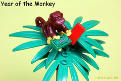 2016 Year of the Monkey (dr_spock_888) Tags: new red money monkey lego year chinese envelope moc