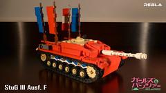 Girls und Panzer : StuG III Ausf. F (Rebla) Tags: world girls 2 anime und war lego iii wwii manga f ww2 panzer gup stug ausf rebla