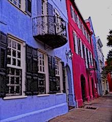 RAINBOW ROW, Charleston, SC (shireye) Tags: sc southcarolina charleston rainbowrow laminar