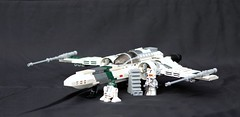 Green Squadron Z-95 Headhunter Starfighter (Tomcat Bobcat) Tags: plane star fighter lego wing x xwing z wars 95 shi fa headhunter starfighter z95 brickarms