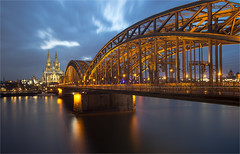 Kln / Hohenzollernbrcke 2016 (zilverbat.) Tags: world longexposure nightphotography bridge sky classic church night clouds germany dark deutschland lights town iron europa europe cityscape nightlights nightshot image dom steel kirche railway visit le stadt timelife altstadt railwaybridge merkel duitsland keulen brucke duits citytrip lenight hohenzollernbrcke tripadvisor lovebridge bisdom zilverbat longexposurebynight elvinhagekpnplanetnl