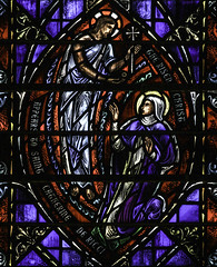 The Risen Christ appears to St Catherine (Lawrence OP) Tags: nyc saint dominican stainedglass nun mystic stvincents stcatherinedericci