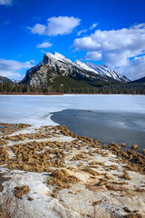 Mount Rundle (achinthaMB) Tags: winter mountain snow canada ice rockies alberta mountrundle banffnationalpark canadianrockies vermilionlake canoneos550d canonrebelt2i