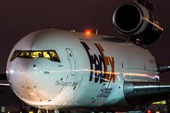 Fedex McDonnell Douglas DC-10 / N311FE / YYZ/CYYZ (Adam Tetzlaff Aviation) Tags: night nikon long exposure fedex yyz dc10 mcdonnell trijet mcdonneldouglas cyyz triholer fedexdc10 mcdonneldouglasdc10 nikon200500