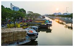 Flowers market (nguyenthanhnha12490) Tags: sunset flower boats minolta market sony vietnam 28135 saigon hoa bnh ch a850 tt xun ng