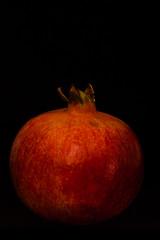 Million Dollar Pomegranate (arminpoell) Tags: red black colour blackbackground fruit canon dark eos image ocf dollar million reddish pomegranade 450d