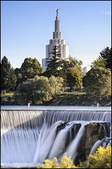 Idaho Falls (Sven Schweiger) Tags: temple falls idaho ndgradfilter nikond4 sigma150600s