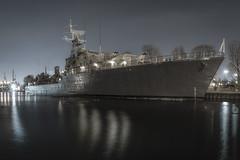 Silent Haida (Tommy1243) Tags: light sky lake ontario canada night war long exposure ship harbour sony low hamilton navy clear haida hmcs decomissioned