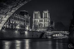 Cathdrale Notre-Dame de Paris, France (jcharles1610) Tags: longexposure bridge paris france monochrome night europe cathedral noiretblanc bridges notredame cathdrale pont notre dame nuit hdr ponts poselongue cathdralenotredamedeparis