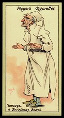 Cigarette Card - Scrooge (cigcardpix) Tags: vintage advertising ephemera dickens cigarettecards