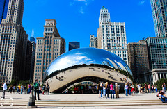 Cloud Gate (Oasisantonio) Tags: travel chicago illinois unitedstates milleniumpark cloudgate 2013