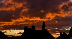 DSC03814 (mortelette.david) Tags: sunset sky orange cloud lighthouse storm france ciel contraste headlight nuage phare orage nord gravelines petitfortphilippe cloudsstormssunsetssunrises