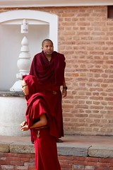 Patan, Nepal (Sharon and Peter Komidar) Tags: nepal candid monk monks patan peoplewatching buddhistmonks buddhistmonk