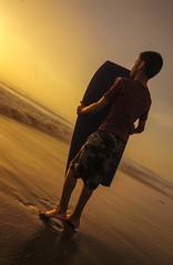 beach boy (Sjafiroeddin, C) Tags: ocean california boy sunset beach wet fun sand surf lagunabeach boogieboard beachkids