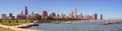Chicago Marina Panorama (f0rbe5) Tags: morning panorama usa lake chicago 2004 skyline marina buildings landscape boats harbor illinois spring cityscape waterfront skyscrapers bluewater roadtrip lakemichigan greatlakes il clear blueskies yachts monroeharbor chicagopanorama yachtmarina chicagowaterfront