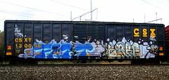 fart - barf (timetomakethepasta) Tags: train graffiti barf fart boxcar freight csx csxt