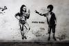 Rude Kids in Bermondsey (tim constable) Tags: streetart london rivalry painting children fun stencil mural sister brother lol attitude argument conflict bermondsey sibling argue quarrel oneupmanship rudekids timconstable enfantterribles