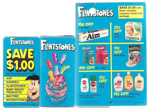 1976 Flintstones vitamins Moonstones cereal coupon