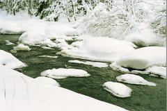 February: The small rapids of Pajukoski, Nilsi (tuomas.mutanen) Tags: film nikon kodak iso e series mm f18 50 portra nikkormat 160 ft2