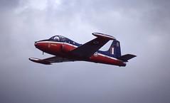 XW325. Royal Air Force BAC Jet Provost T.5B (Ayronautica) Tags: military july airshow scanned 1991 trainer raf fairford royalairforce egva 6fts xw325 bacjetprovostt5b ayronautica