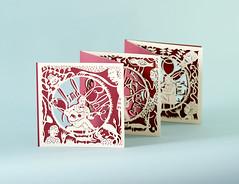 b (Elsita (Elsa Mora)) Tags: christmas paperart card redandwhite papercraft holidaycard papercutout elsita papercutting elsamora