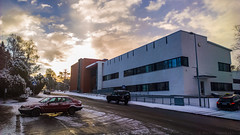 WP_20160318_07_40_35_Raw__highres (madeinfin) Tags: snow clouds sunrise finland helsinki frosty saab900 kulosaari kystikalliontie