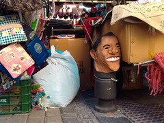 Obama's Mask (Arrëtez la Musique) Tags: madrid españa spain mask secondhand fleamarket obama mercadillo rastro careta barackobama