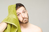 (Damien Cox) Tags: uk portrait selfportrait man male green me face self ego myself beard eyes nikon masculine towel moi lime autorretrato scruff stubble i damiencox damiencoxcouk