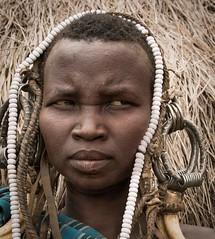 Mursi Woman, Ethiopia (Rod Waddington) Tags: africa portrait woman female beads costume african traditional culture tribal afrika omovalley ethiopia tribe ethnic mursi ethnicity afrique ethiopian omo etiopia ethiopie etiopian omoriver