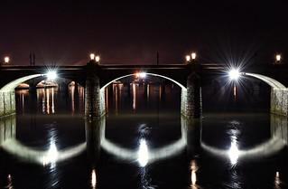 Market St. Bridge from Walnut St. Bridge. Harrisburg, PA
