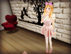 2016 Coordinate 30 (littlerowan) Tags: ballet ruffles doll tights secondlife heels dolly bows cuffs gf whiteface zenith sallie dollface anklesocks spellbound hairbow gfield katat0nik wasabipills cannibelle