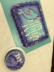 Mermaid 1st Birthday Cake (tasteoflovebakery) Tags: birthday blue cake smash purple 1st mermaid