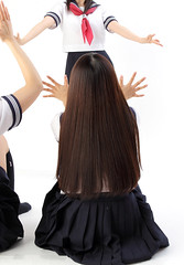 japanese-schoolgirls-2 (Souls_Eater) Tags: girls love japan hair japanese back arms legs   stocking skirts      tumblr