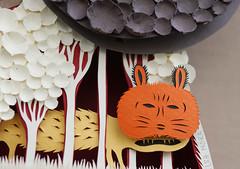 Paper sculpture (Elsita (Elsa Mora)) Tags: art silhouette illustration paper paperart design 3d pattern handmade drawing form fiber papercraft papersculpture papercutout elsita xactoknife papercutting 3dimensionalart elsamora 3dimensionalpaper