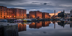 Liverpool at Blue Hour (tony.wish) Tags: city reflection building water architecture liverpool reflections dock nikon cityscape bluehour 1855 albertdock liverbuilding salthousedock d5300