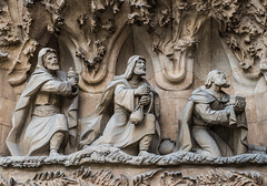The-three-wise-men_DSC2629 (Mel Gray) Tags: barcelona church spain catholic basilica religion gaudi sagradafamilia religiousart religiousarchitecture
