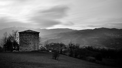 A postcard from the past (mttdlp) Tags: longexposure sky bw mountain torre natura nd castello montagna bianco nero d3200