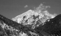 Ace of Diamonds (sfryers) Tags: trees summer sky terrain mountain alps monochrome rock clouds sigma apo savoy rugged redchannel 70300 1456