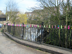 Happy Fence Friday! (pefkosmad) Tags: street uk vacation england holiday streetart art public fence fun town knitting display crochet stephen yarn cumbria knitted railing crocheted guerrilla brough fibre kirkby urbanknitting yarnbombing graffitiknitting yarnbomb yarnstorming kniffiti