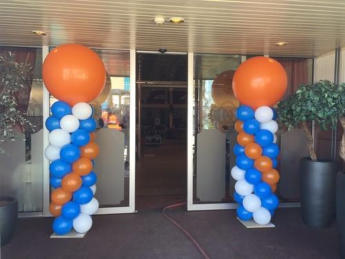 Ballonpilaar Breed Rond Rabobank Clubkas Campagne Het Dak Leerdam