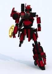 Damaged Harbinger (TF Twitch) Tags: blue fiction mobile digital lego designer render science suit scifi fi gundam armored core sci mecha mech ldd blacktron bluerender
