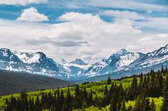 Mountain valleys in Montana (Paladin27) Tags: park blue trees sky mountain mountains green clouds montana glacier national valley glaciernationalpark range mountainrange