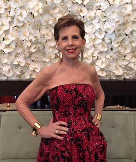 The celebrated lady of the evening Adrienne Arsht at the 10 year anniversary gala cocktail party and concert in her honor.