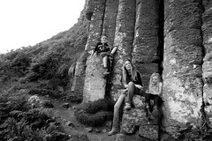 Dinner at a World Heritage Site. (plot19) Tags: uk family portrait blackandwhite love dinner photography blackwhite nikon northwest olivia britain sandy aaron north northernireland british giants northern causeway plot19 sandyandliv
