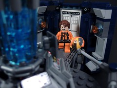 Back From Space (MrKjito) Tags: matt lego who space smith 11 suit doctor minifig tardis custom exploration