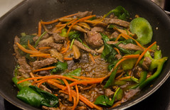 Chef Alex Ong 4/19-4/20/16 (UMassDining) Tags: alex fry chef steak peppers carrots stir guest spinach ong