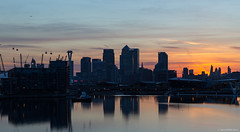 London Sunset (peter_hall) Tags: london landscape cityscape canarywharf emiratesairline