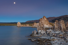 Blue Hour Moon at Mono Lake (Jeffrey Sullivan) Tags: california longexposure sunset copyright usa moon lake jeff nature june forest canon landscape mono photo twilight unitedstates iii full national bluehour sullivan rise beltofvenus easternsierra inyo leevining monocounty southtufa 2013 5dmark