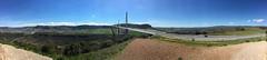 Panorama Viaduc de Millau (FredArt) Tags: panorama cloudy ciel pont autoroute millau viaduc aveyron ouvragedart