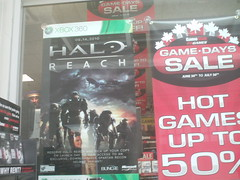 """Halo: Reach"" poster (splinky9000) Tags: new brunswick fredericton eb games halo reach poster banner xbox 360 video game"